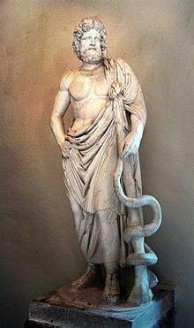 Ascelpius serpent staff