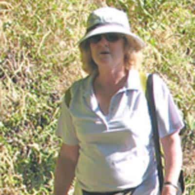 Jill Sleeman walks leader