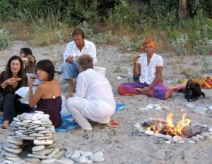 Community living Picnic on Plaka beach