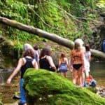 Walkers Head For Waterfall Near Kissos
