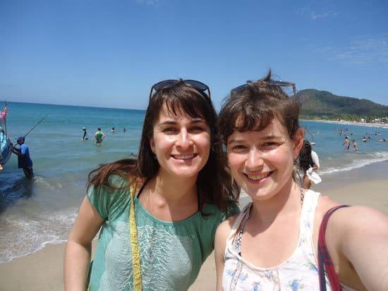Yoga holiday leaders Jaime Bedard & Rachel Pleis